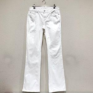 Michael Kors White Pockets Bootcut Jeans